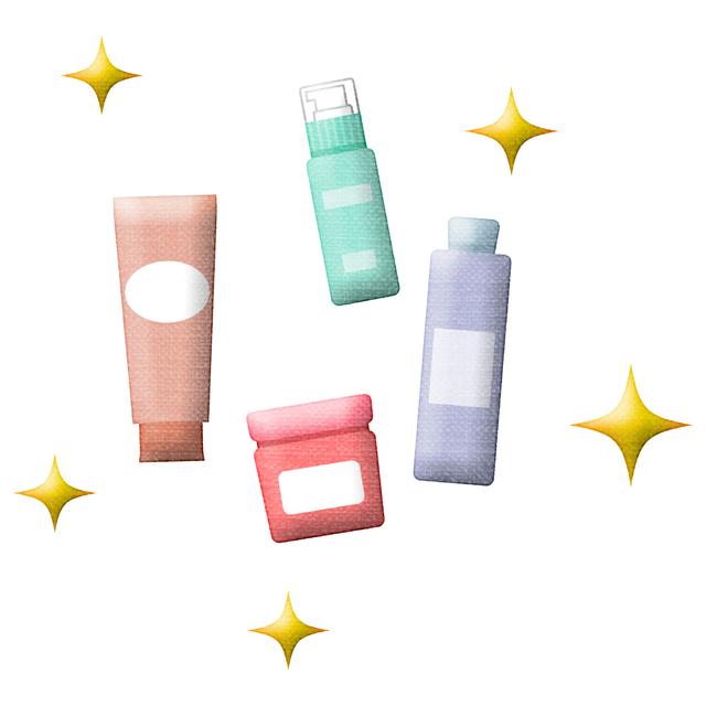 基礎化粧品イラスト